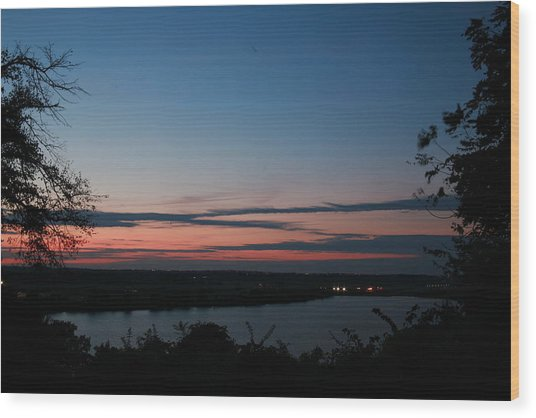 Creve Coeur Lake Sunset Wood Print