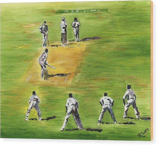 Cricket Duel Wood Print