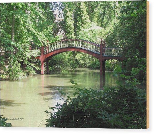 Crim Dell Bridge Iv Wood Print