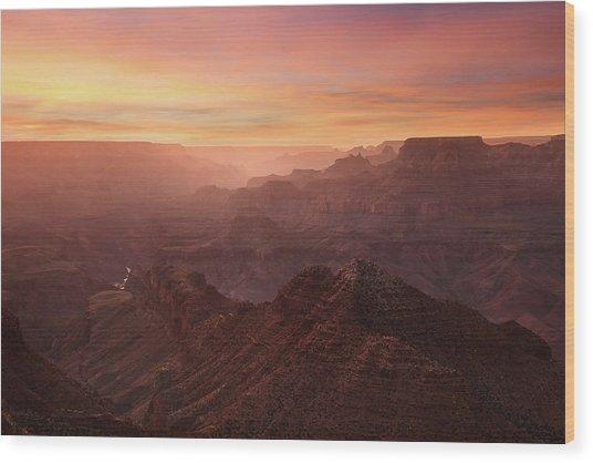Crimson Canyon Wood Print by Adam Schallau