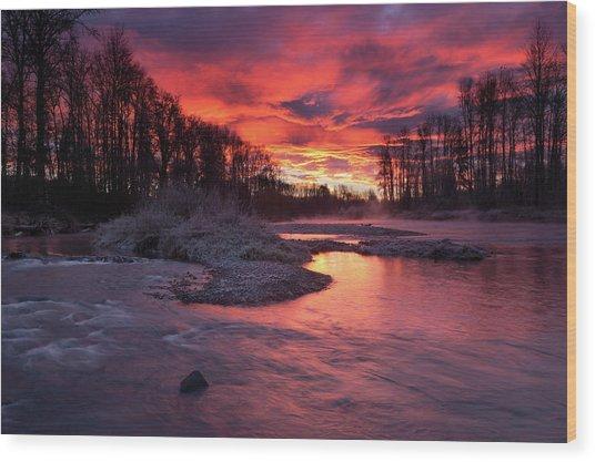 Sage Island Sunrise Wood Print