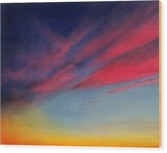 Crimson Sunset II Wood Print by Ruth Sharton
