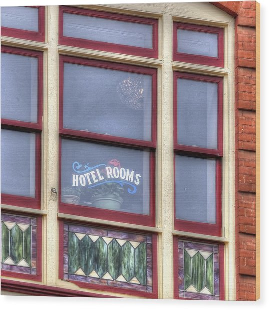 Cripple Creek Hotel Rooms 7880 Wood Print
