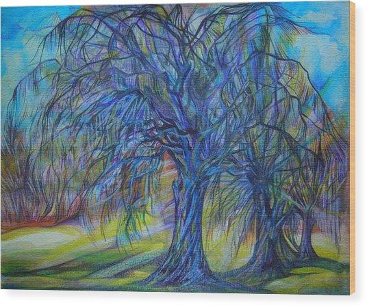 Crystal Light Wood Print