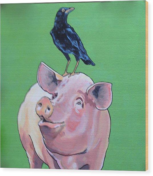 Cromwell The Crow Wood Print