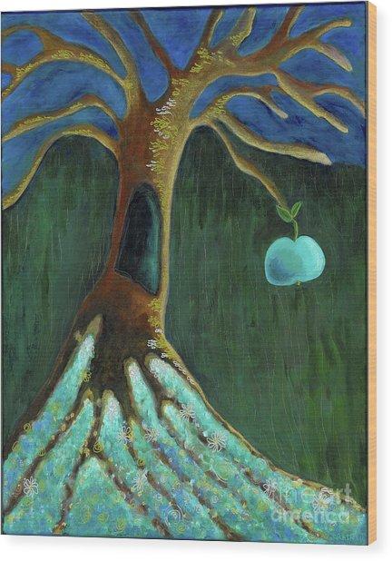 Crone's Tree Wood Print
