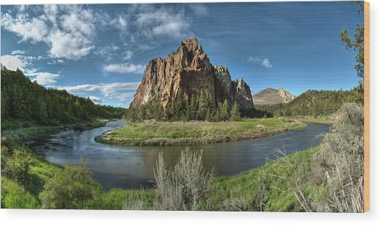 Crooked River And Smith Rock Wood Print