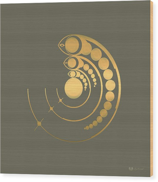 Crop Circle Formation Near Avebury  Wood Print
