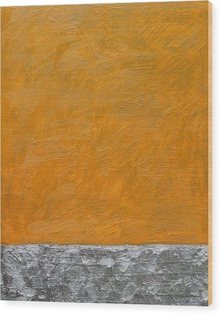 Fields Oil On Board 16 X 20 2014 Wood Print