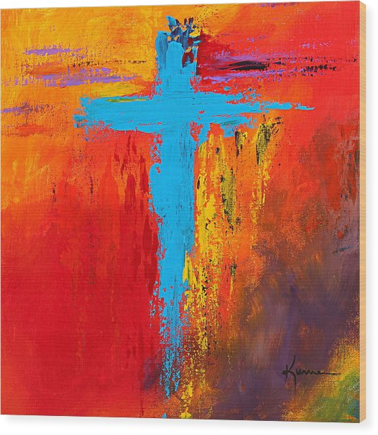 Cross 3 Wood Print
