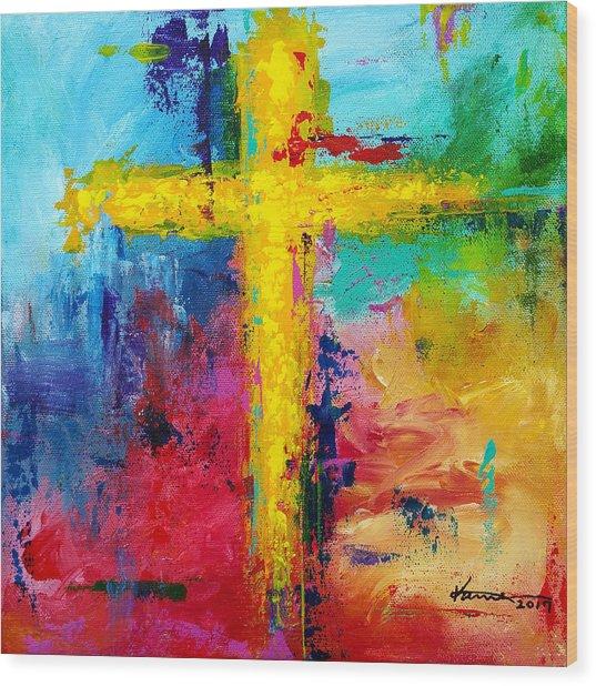 Cross 7 Wood Print