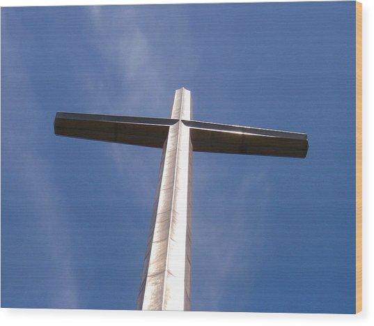 Cross At St. Augustine Wood Print