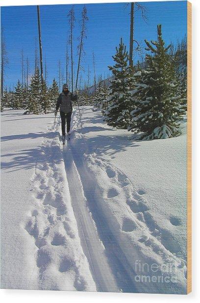 Cross Country Yellowstone Wood Print