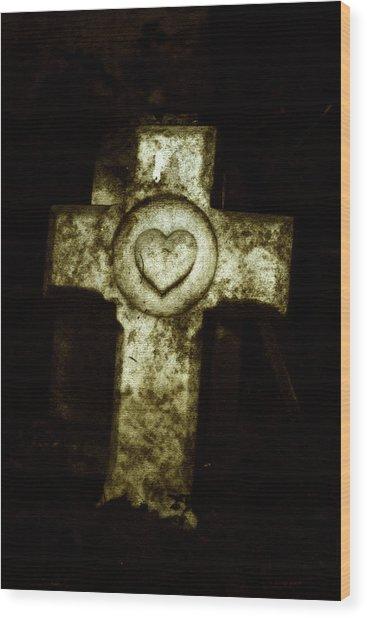 Cross My Heart Wood Print by Carl Perry