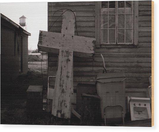 Cross Tallulah Louisiana Wood Print