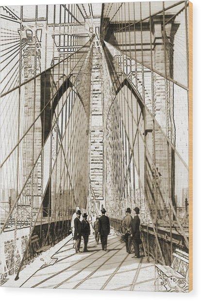 Cross That Bridge Vintage Photo Art Wood Print