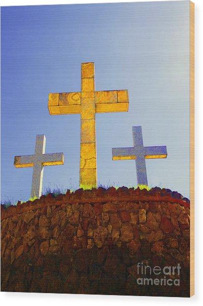 Crosses To Bear Wood Print