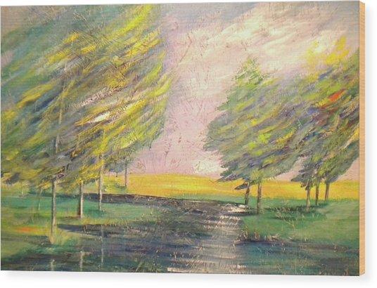 Crossing Over At Watauga River Wood Print