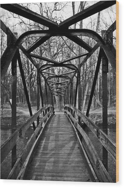 Crossing Over Wood Print