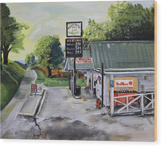 Crossroads Grocery - Elijay, Ga - Old Gas And Grocery Store Wood Print