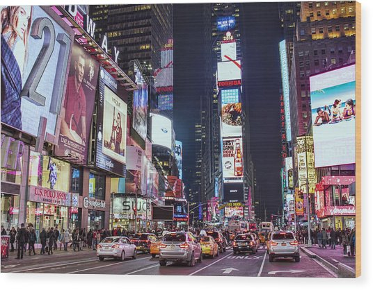 Crossroads Of The World Wood Print by Zev Steinhardt