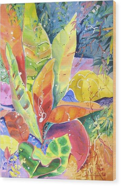 Croton Ll Wood Print
