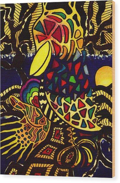 Crow Wood Print by Gayland Morris