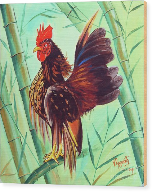 Crown Of The Serama Chicken Wood Print