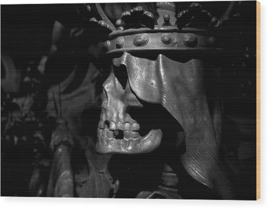 Crowned Death II Wood Print
