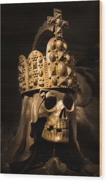 Crowned Death Wood Print