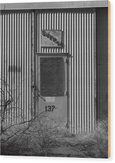 Crows Landing Base Supply Wood Print by Troy Montemayor