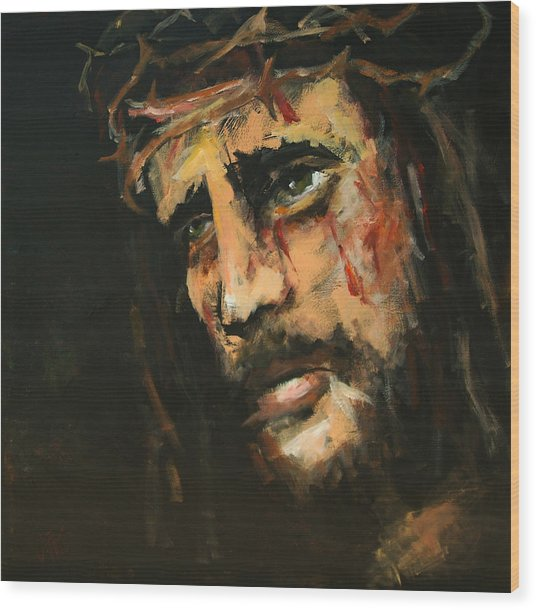 Crucified Jesus Wood Print