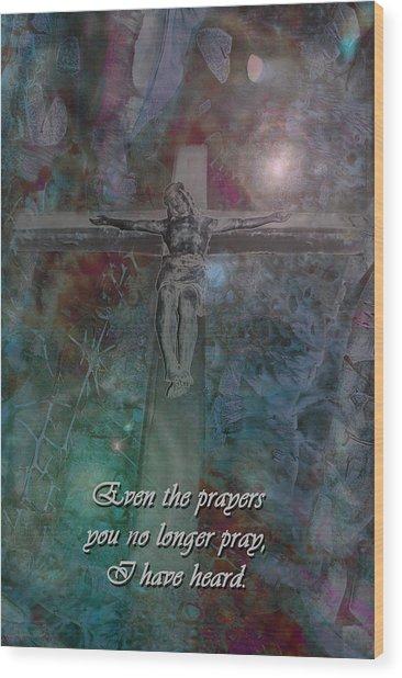 Crucifix 2 Wood Print
