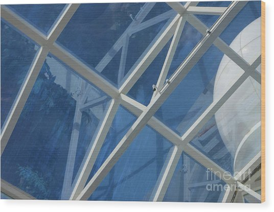 Cruise Ship Abstract Girders And Dome 2 Wood Print