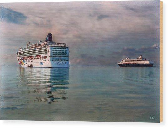 Cruise Ship Parking Wood Print