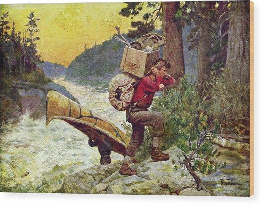 Cruisers Making A Portage Wood Print