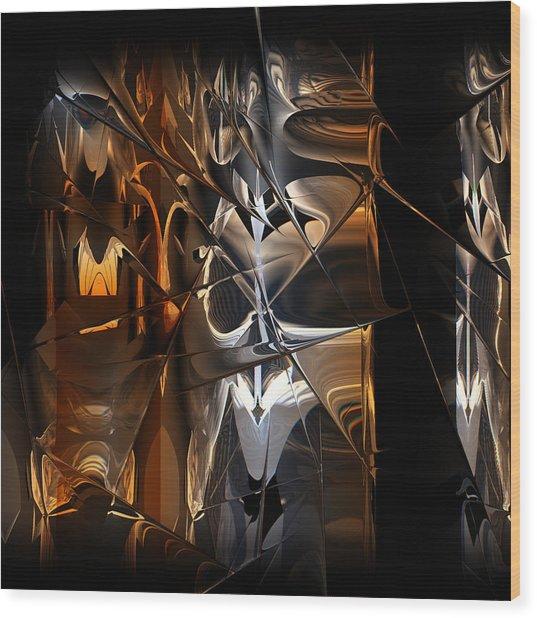 Wood Print featuring the digital art Crusade by Vadim Epstein