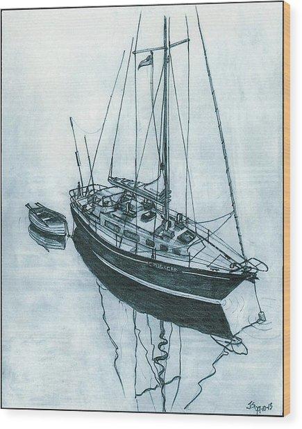 Crusader At Anchor Wood Print
