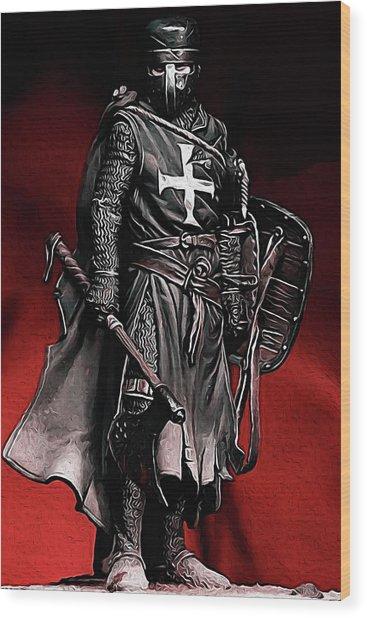 Crusader Warrior - Medieval Warfare Wood Print
