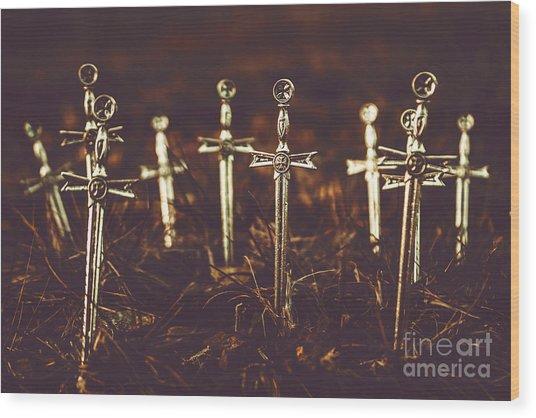 Crusaders Cemetery Wood Print