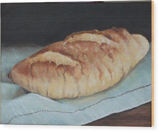 Crusty Loaf Wood Print by Irene Corey