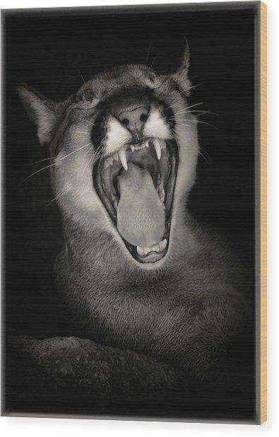 Cruz Yawning Wood Print