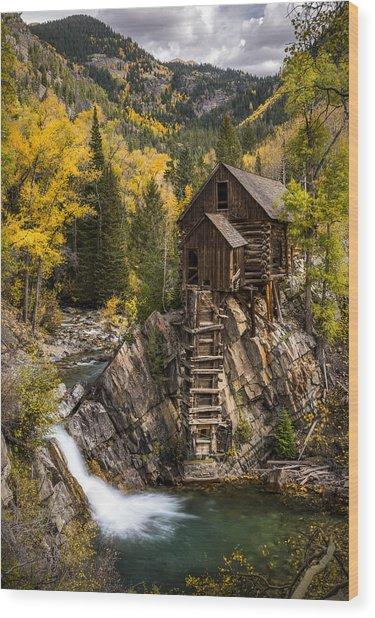 Crystal Autumn Wood Print