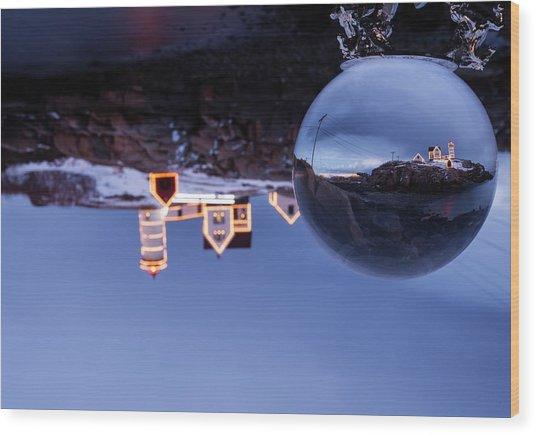 Crystal Ball Nubble Wood Print