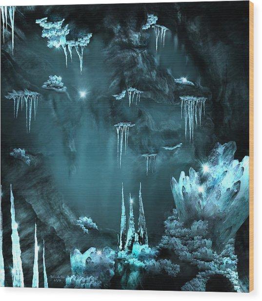 Crystal Cave Mystery Wood Print