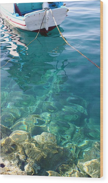 Crystal Clear Wood Print by Yvonne Ayoub
