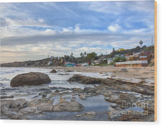 Crystal Cove Beach Cottages Wood Print