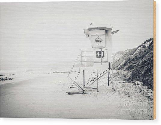 Crystal Cove Lifeguard Tower 11 In Laguna Beach Wood Print
