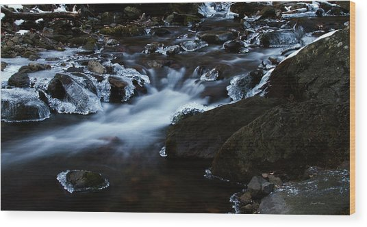 Crystal Flows In Hdr Wood Print