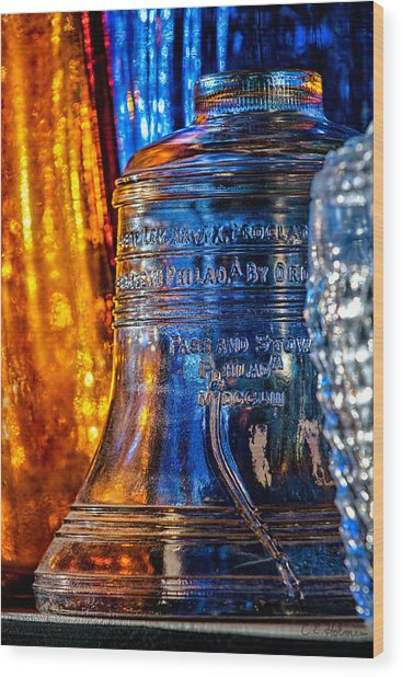 Crystal Liberty Bell Wood Print